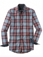 Red & Grey Check Shirt - Olymp - 4066/24/38